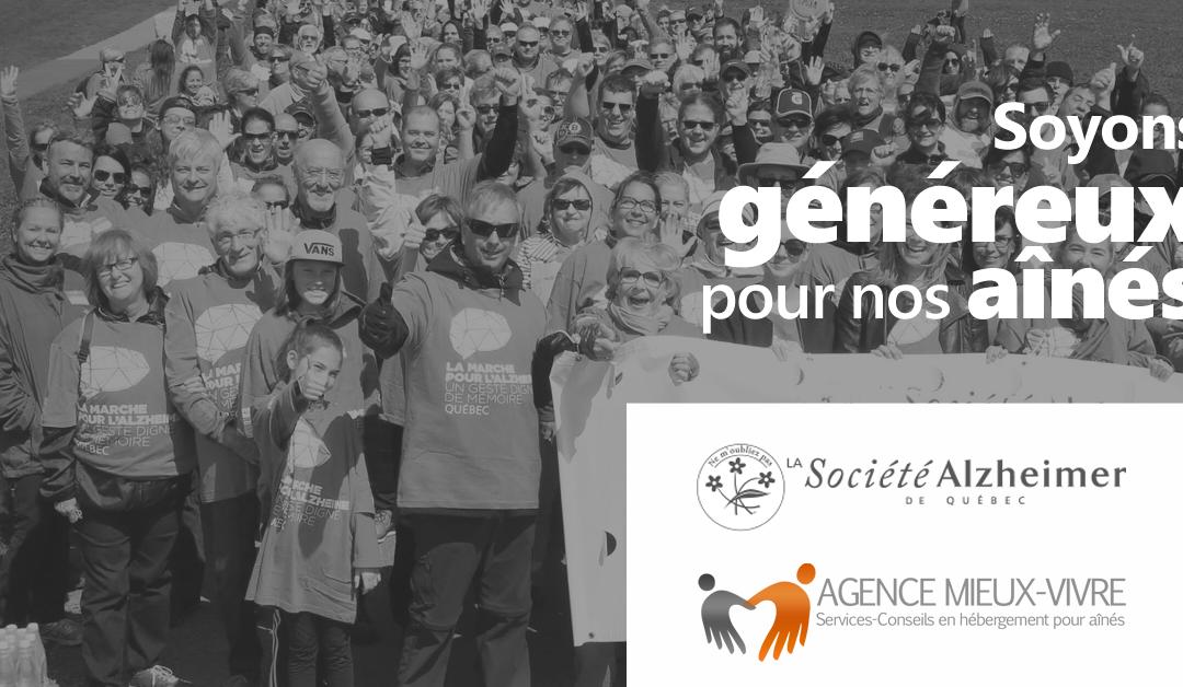 12e marche pour l'Alzheimer au profit de la fondation de l'Alzheimer de Québec.